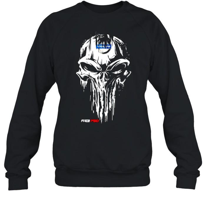 Punisher With Volvo Fh16 750 Logo  Unisex Sweatshirt
