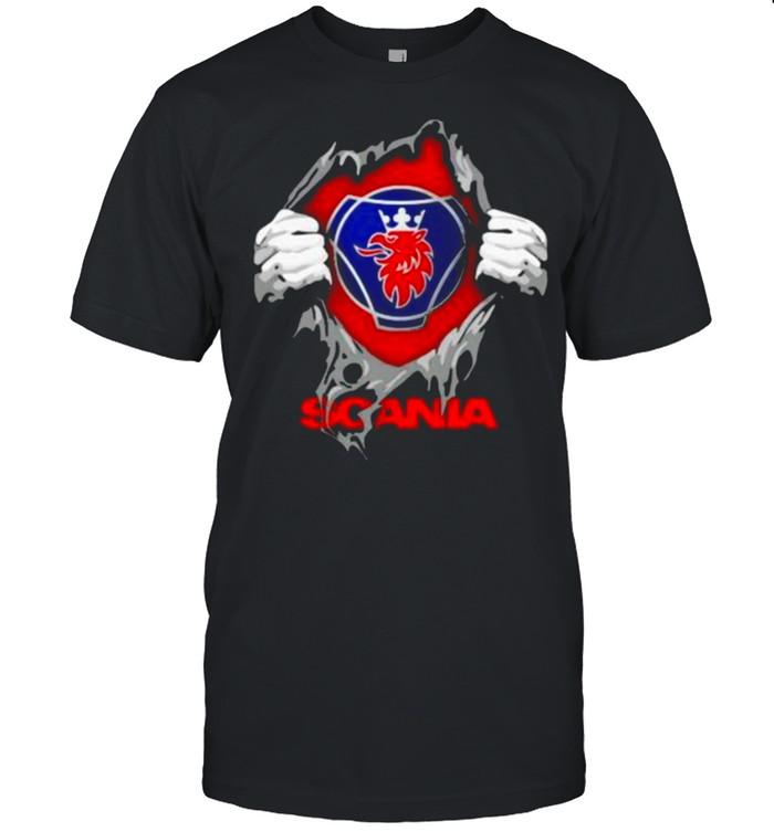 Superhero With Logo Scania  Classic Men's T-shirt