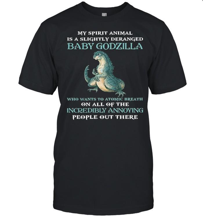 My spirit animal is a slightly deranged baby Godzilla shirt Classic Men's T-shirt