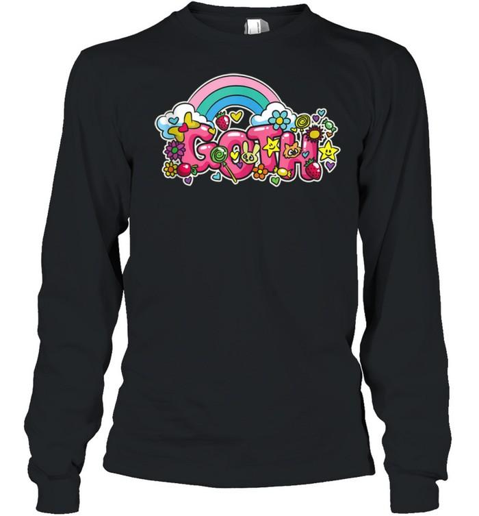 Goth Pastel Goth Colorful Kawaii Rainbow shirt Long Sleeved T-shirt
