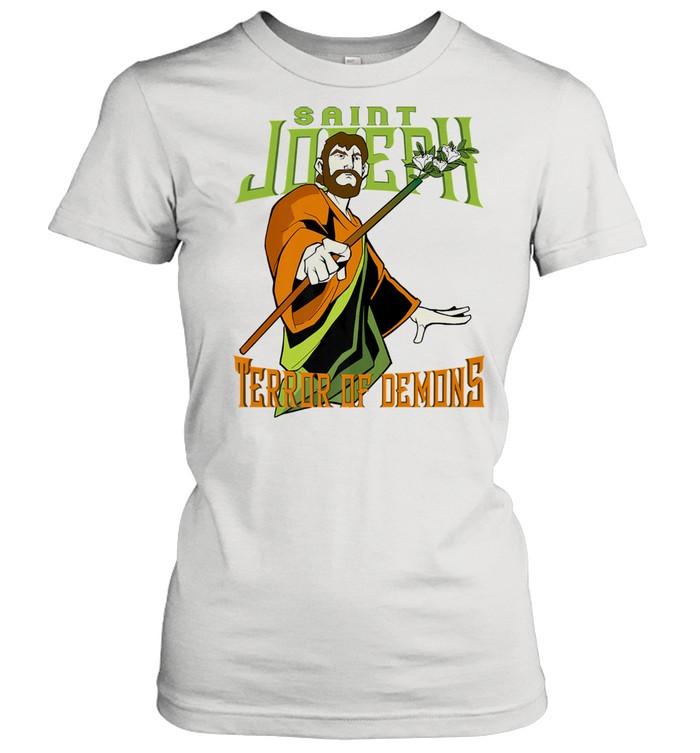 St Joseph Terror of Demons Consecration 2021 Catholic Saint Premium  Classic Women's T-shirt