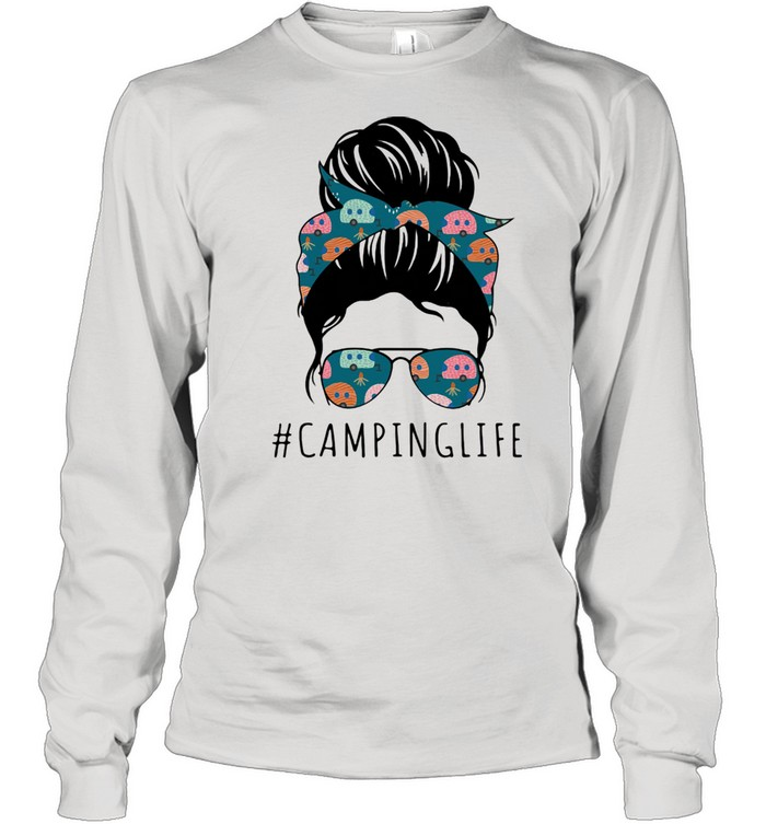 Camping life Mother's day  Long Sleeved T-shirt