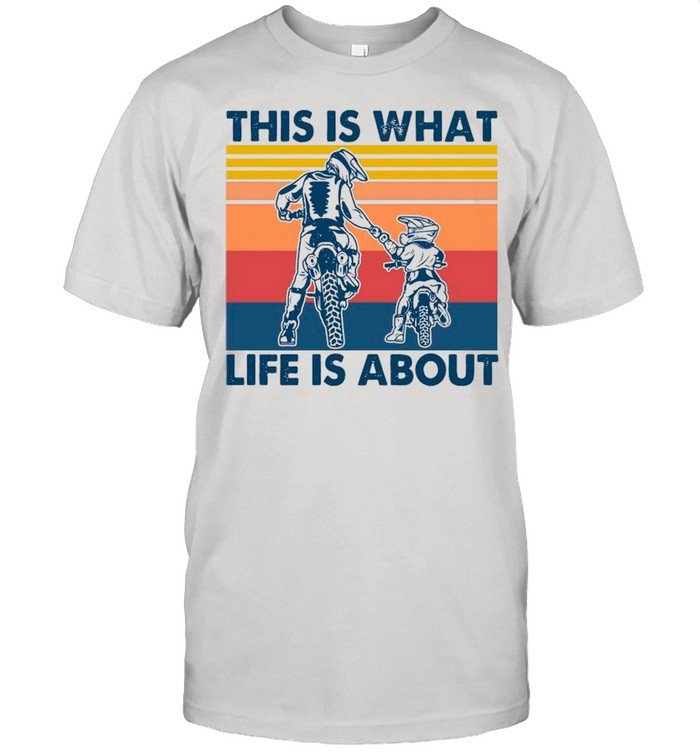 Dad And Son This Is What Life Is About Vintage shirt Classic Men's T-shirt