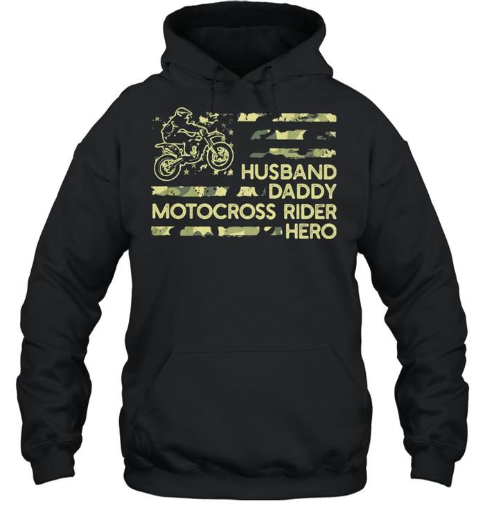 Husban Dady Motocross Rider Hero  Unisex Hoodie