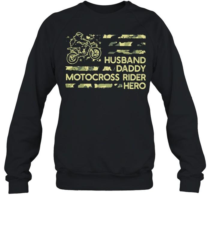 Husban Dady Motocross Rider Hero  Unisex Sweatshirt