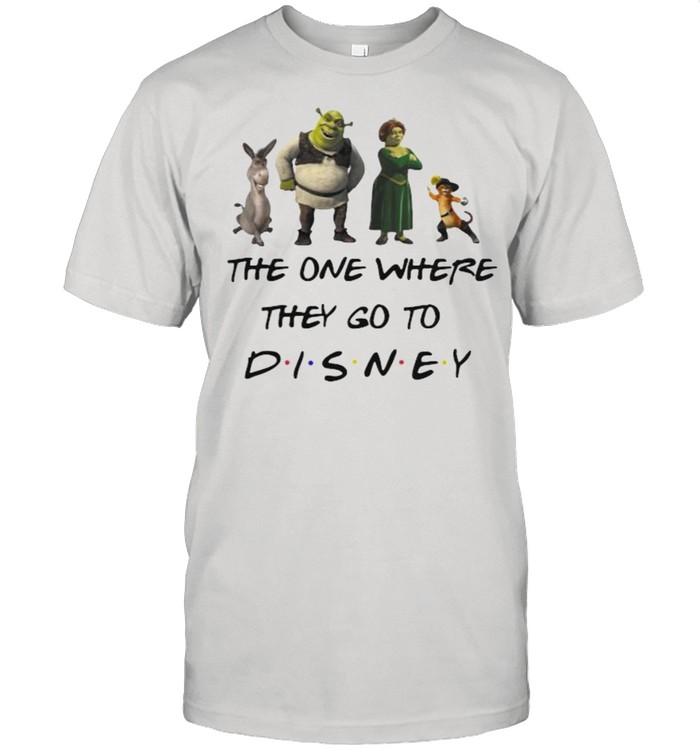 The One Where They Go To Disney Shrek Movie  Classic Men's T-shirt