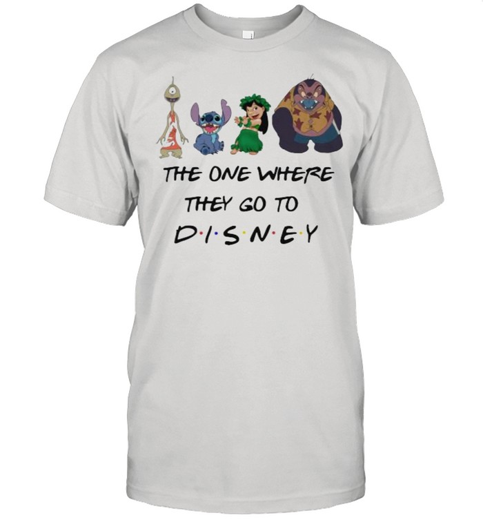 The One Where They Go To Disney Stitch And Lilo Movie  Classic Men's T-shirt