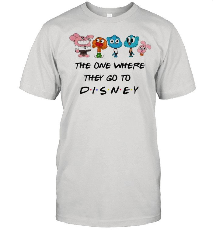 The One Where They Go To Disney The Amazing World Of Gumball Movie  Classic Men's T-shirt
