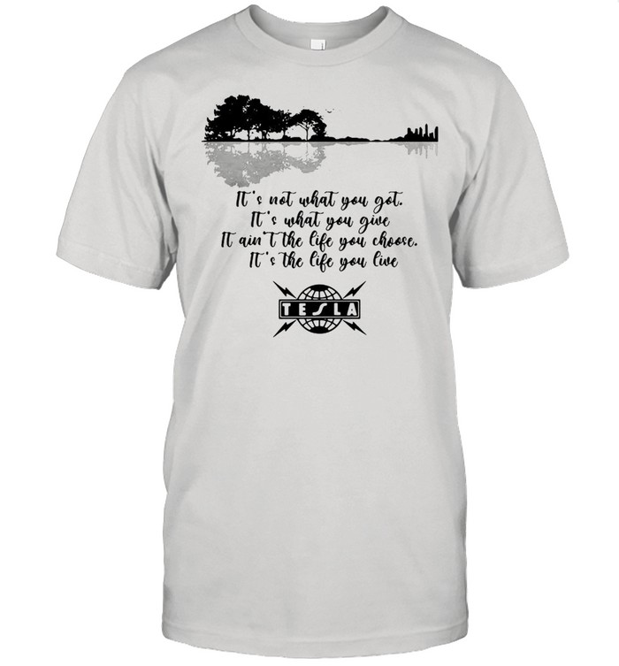 Guitar its not what you got its what you give it aia't the life you chochooses the life you live TE LA shirt Classic Men's T-shirt
