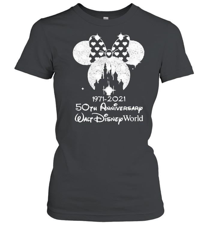 1971 2021 50th Anniversary Walt Disney World Minnie  Classic Women's T-shirt