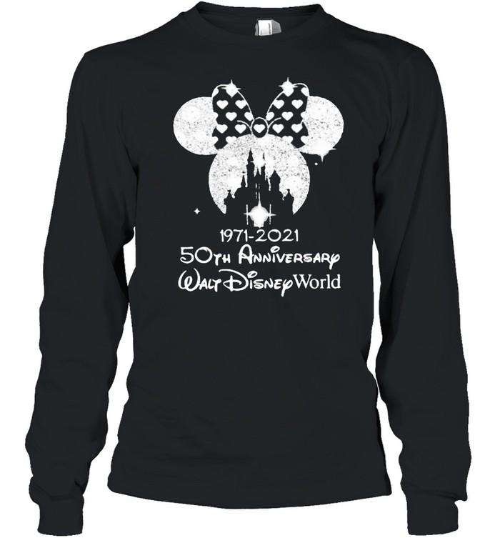 1971 2021 50th Anniversary Walt Disney World Minnie  Long Sleeved T-shirt