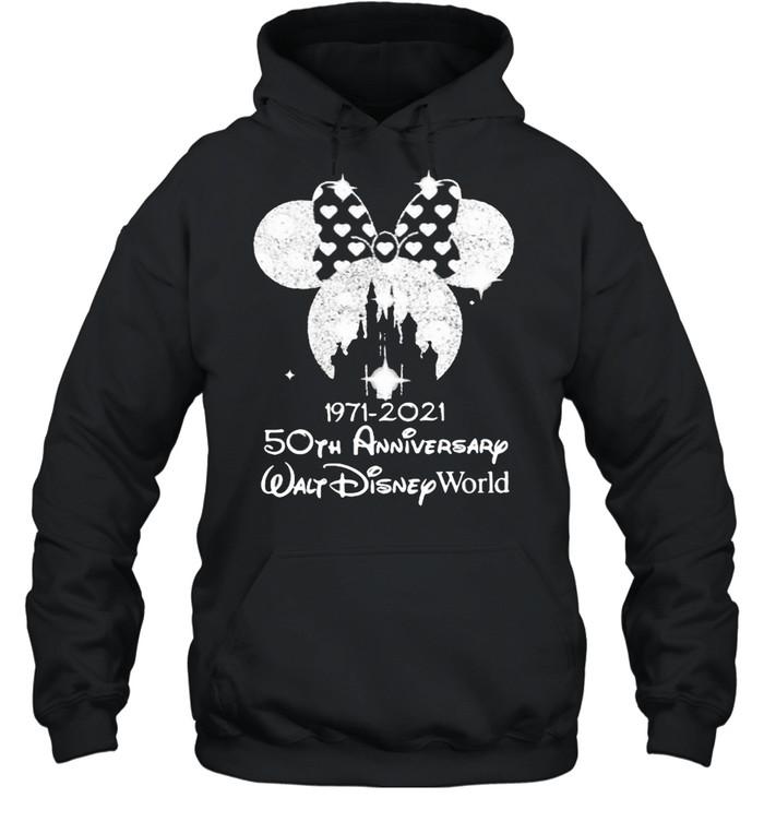 1971 2021 50th Anniversary Walt Disney World Minnie  Unisex Hoodie
