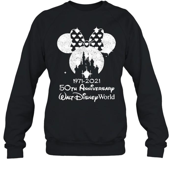 1971 2021 50th Anniversary Walt Disney World Minnie  Unisex Sweatshirt