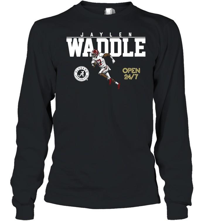 Alabama Football Jaylen Waddle Of The University shirt Long Sleeved T-shirt