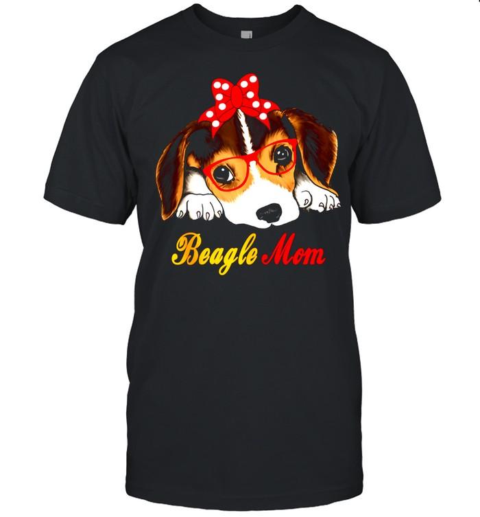 Dog Bow Tie Glasses Cute Beagle Mom shirt Classic Men's T-shirt