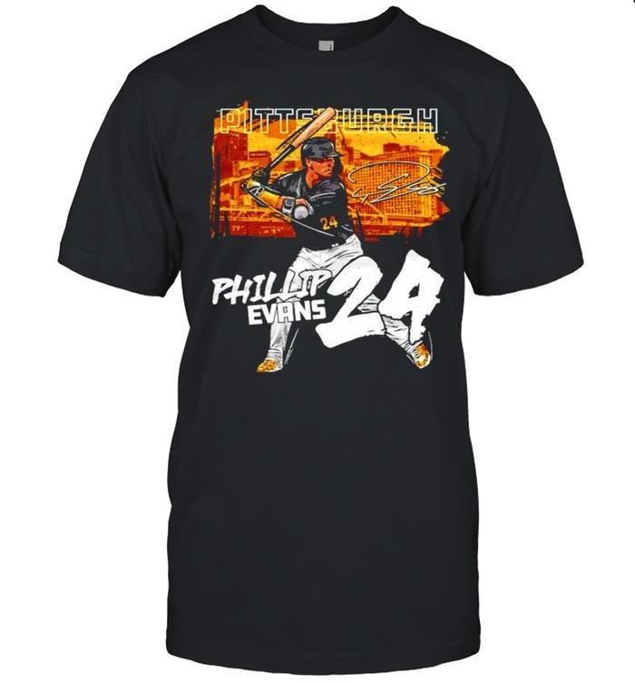 Pittsburgh Baseball Phillip Evans 24 signature shirt Classic Men's T-shirt