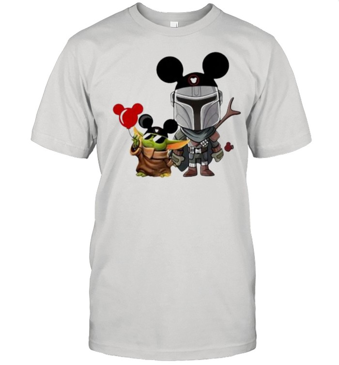 The Mandalorian Baby Yoda Mickey  Classic Men's T-shirt