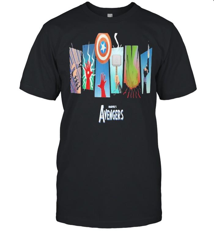 Thunder Light Marvels Avengers Captain America  Classic Men's T-shirt