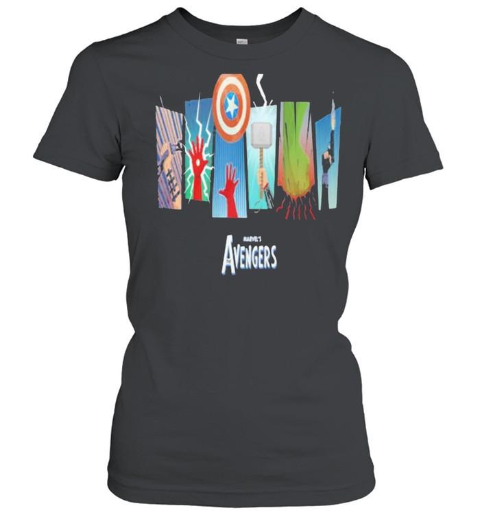 Thunder Light Marvels Avengers Captain America  Classic Women's T-shirt