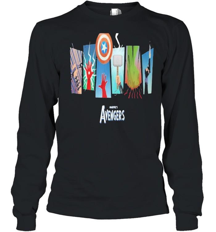 Thunder Light Marvels Avengers Captain America  Long Sleeved T-shirt