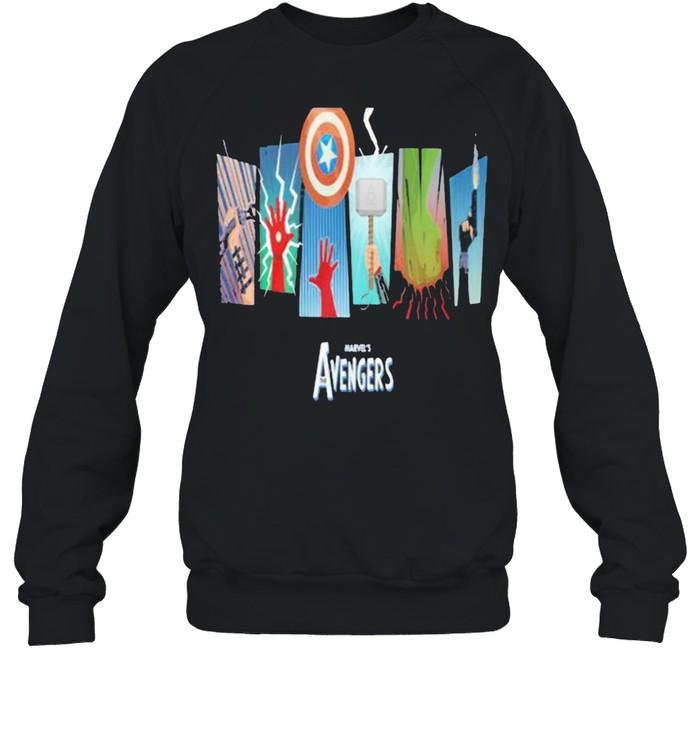 Thunder Light Marvels Avengers Captain America  Unisex Sweatshirt