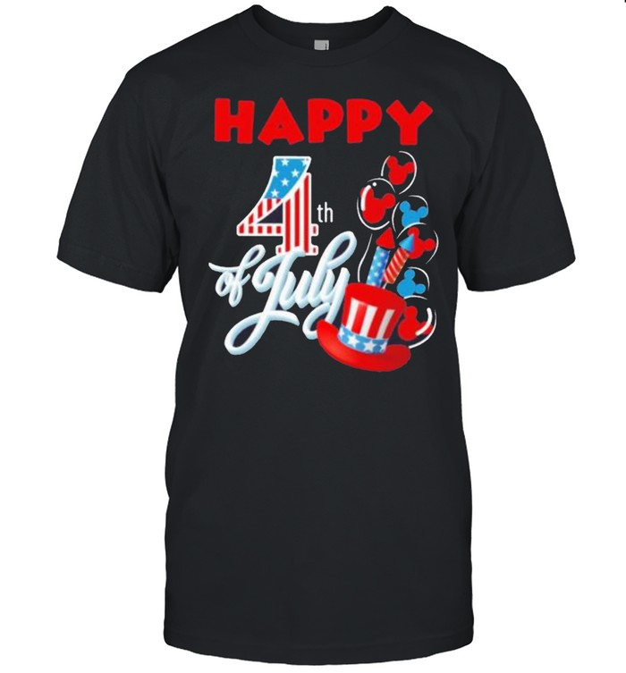 Mickey Mouse happy 4th of july America shirt Classic Men's T-shirt