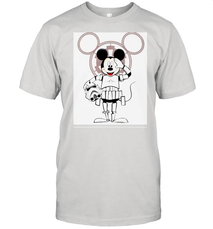 Mickey Star War shirt Classic Men's T-shirt