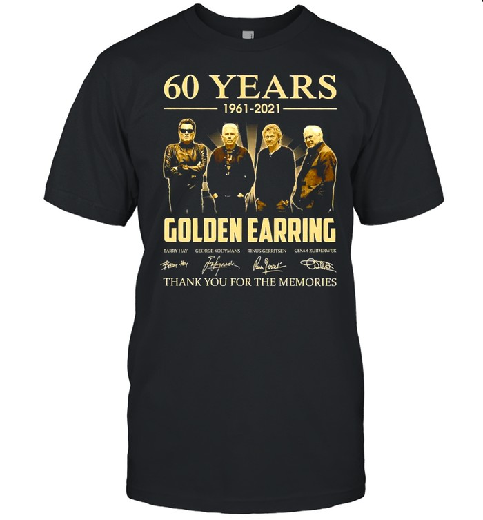 60 Years 1961 2021 Golden Earring Thank You For The Memories Signature  Classic Men's T-shirt