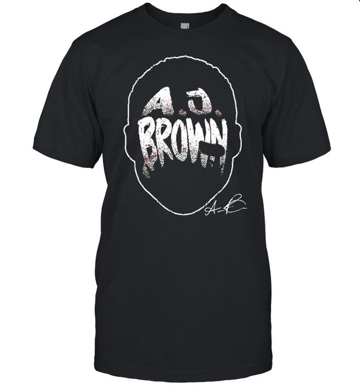A.J. Brown Player Silhouette signature shirt Classic Men's T-shirt