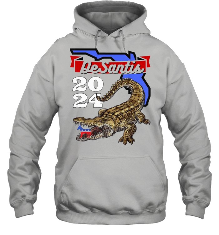 Desantis 2024 for Florida Lovers Cross  Unisex Hoodie