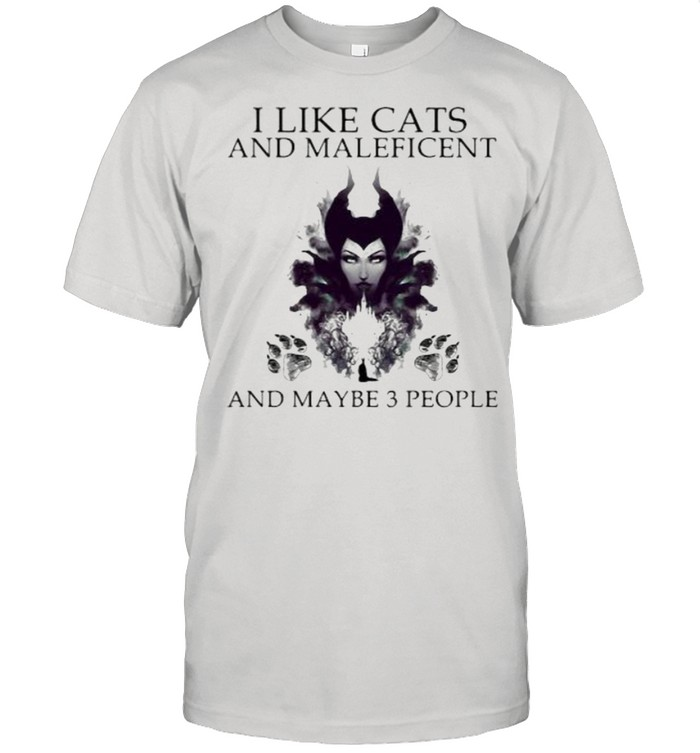 I Like Cats And Maleficent And Maybe 3 People  Classic Men's T-shirt