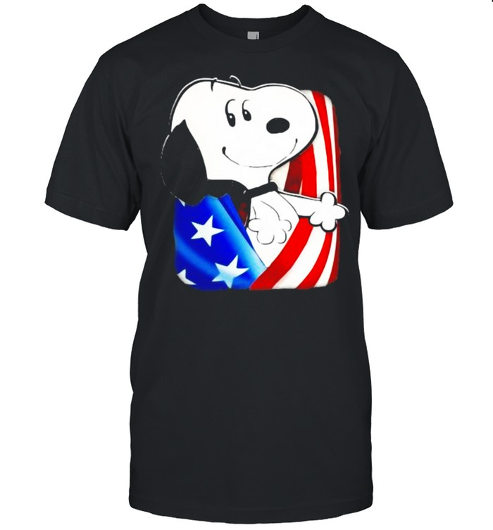 Snoopy 4th Of July Independence  Classic Men's T-shirt