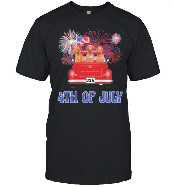 Vizsla 4th Of July American Flag shirt Classic Men's T-shirt