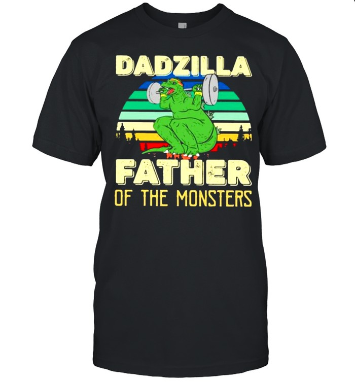 Dadzilla father of the monsters vintage shirt Classic Men's T-shirt