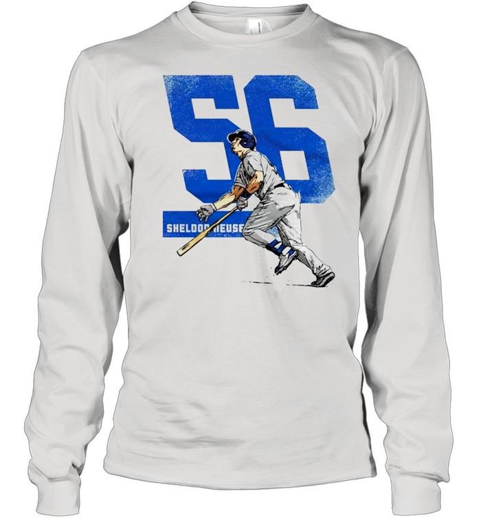 Los Angeles Baseball 56 Sheldon Neuse shirt Long Sleeved T-shirt