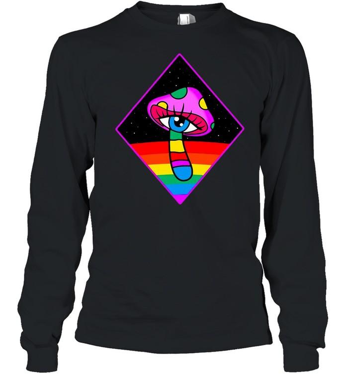 Magic Mushroom Eye Trippy Psychedelic Psychonaut T-shirt Long Sleeved T-shirt