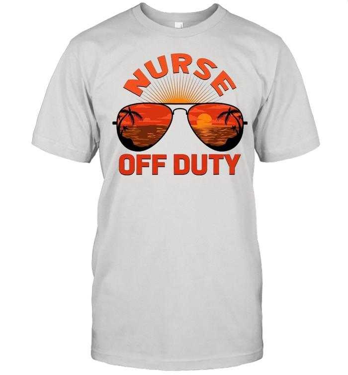 Summer Sunglasses Nurse Off Duty shirt Classic Men's T-shirt