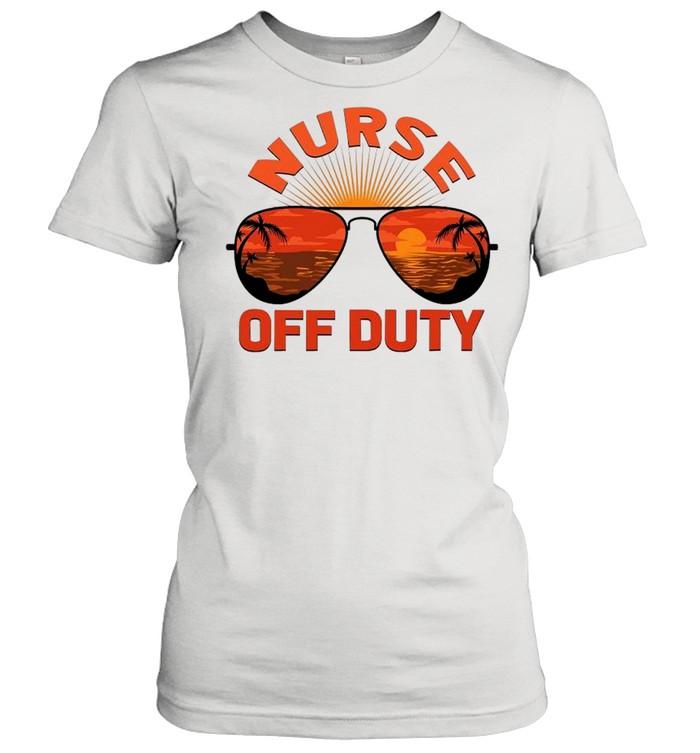 Summer Sunglasses Nurse Off Duty shirt Classic Women's T-shirt