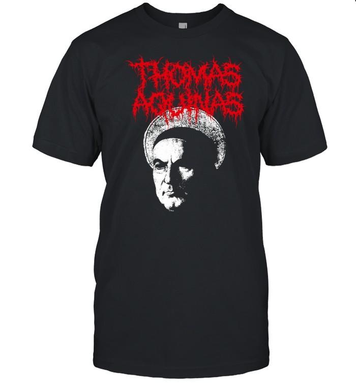 Thomas Aquinas Heavy Death Metal Philosopher shirt Classic Men's T-shirt