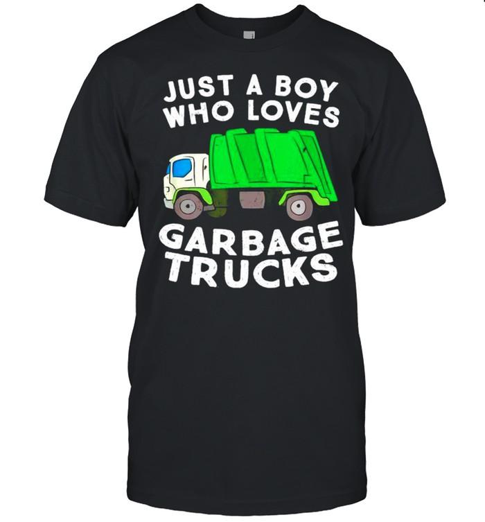 Just a boy who loves garbage trucks shirt Classic Men's T-shirt