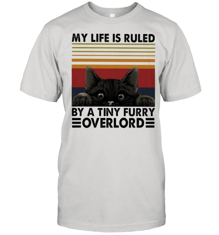 My Life Is Ruled By A Tiny Furry Overlord Cat Vintage  Classic Men's T-shirt