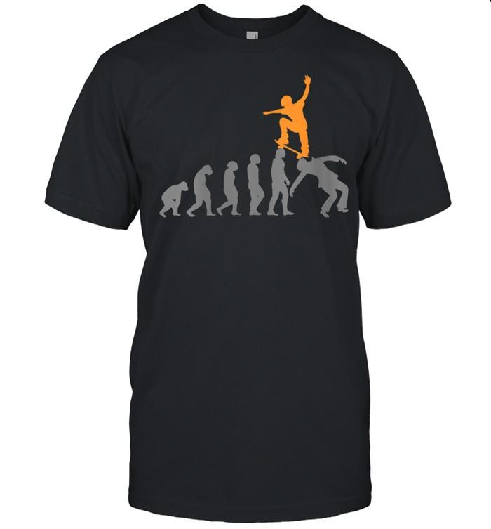 Womens Skateboard Skater Skating Evolution Skateboarder shirt Classic Men's T-shirt