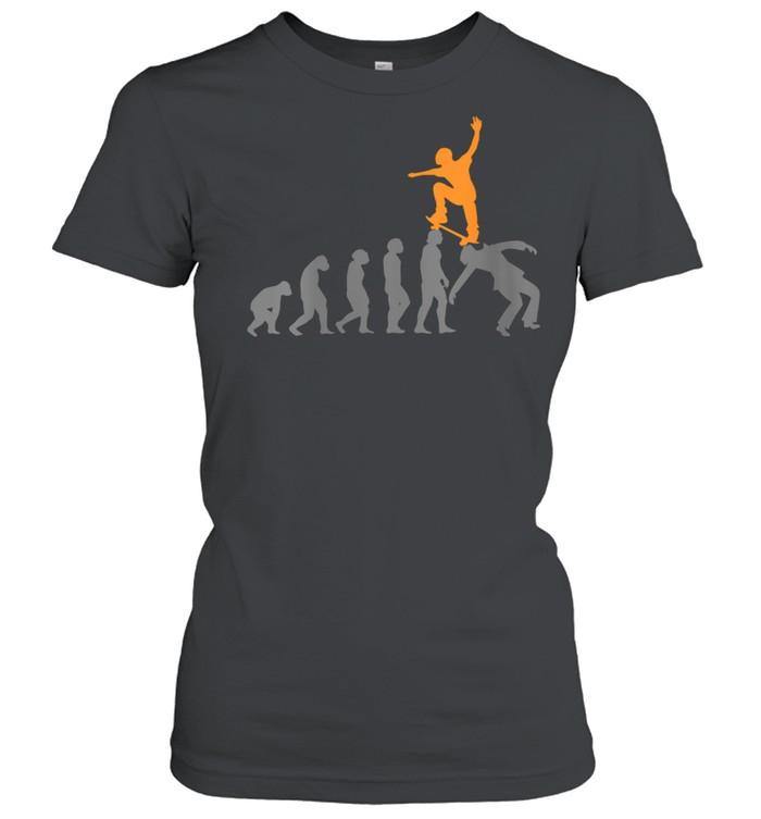 Womens Skateboard Skater Skating Evolution Skateboarder shirt Classic Women's T-shirt