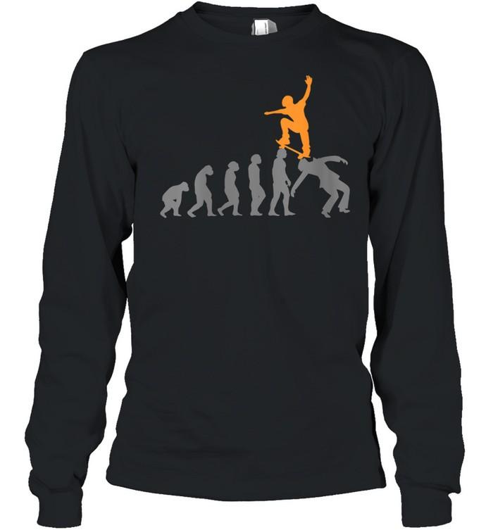 Womens Skateboard Skater Skating Evolution Skateboarder shirt Long Sleeved T-shirt