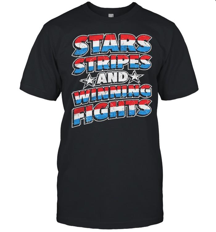 Stars Stripes And Winning Fights  Classic Men's T-shirt