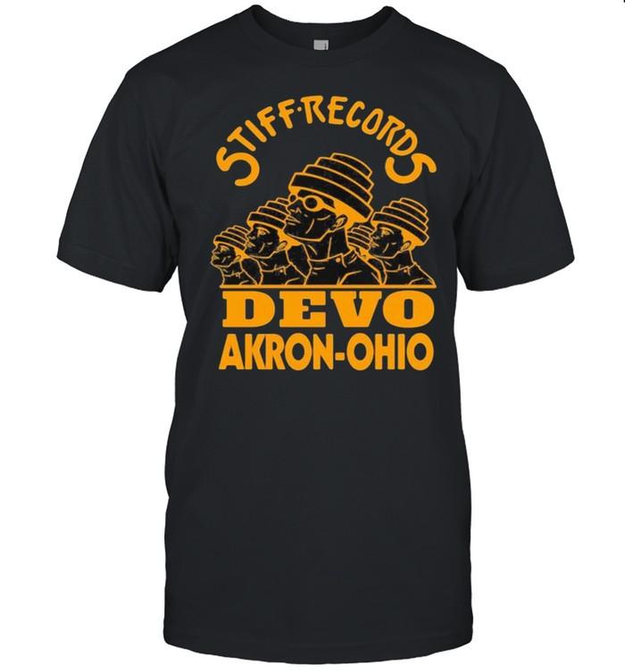 Stiff records devo akron ohio shirt Classic Men's T-shirt