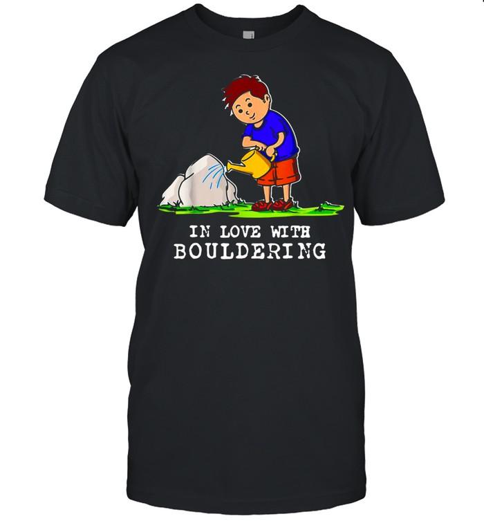 Boulder Bouldering Love Rock Climbing Mounta  Classic Men's T-shirt