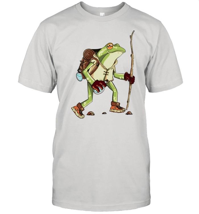 frog hiker toad cottagecore aesthetic goblincore shirt Classic Men's T-shirt