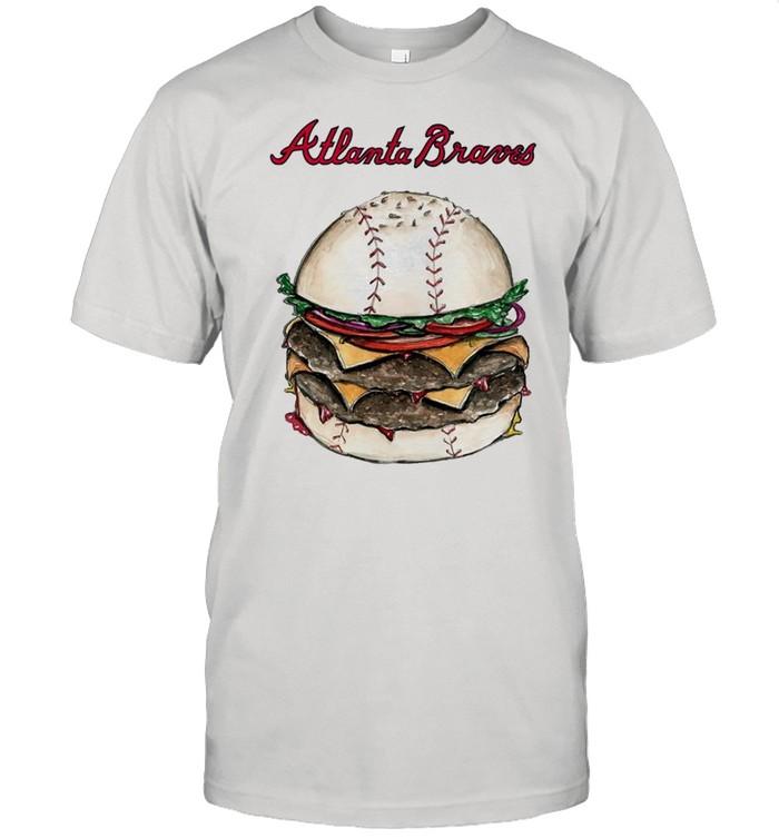 Atlanta Braves burger baseball shirt Classic Men's T-shirt