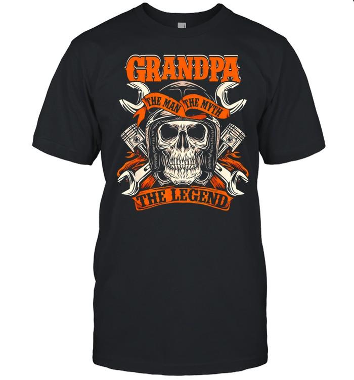 Skull Grandpa The Man The Myth The Legend shirt Classic Men's T-shirt